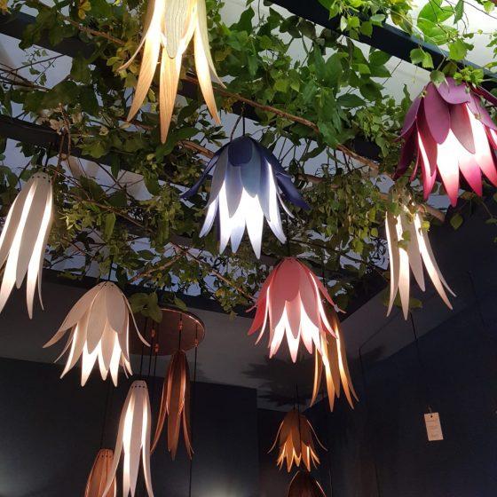 Wooden Floral Lighting -Bluebell Pendant Light